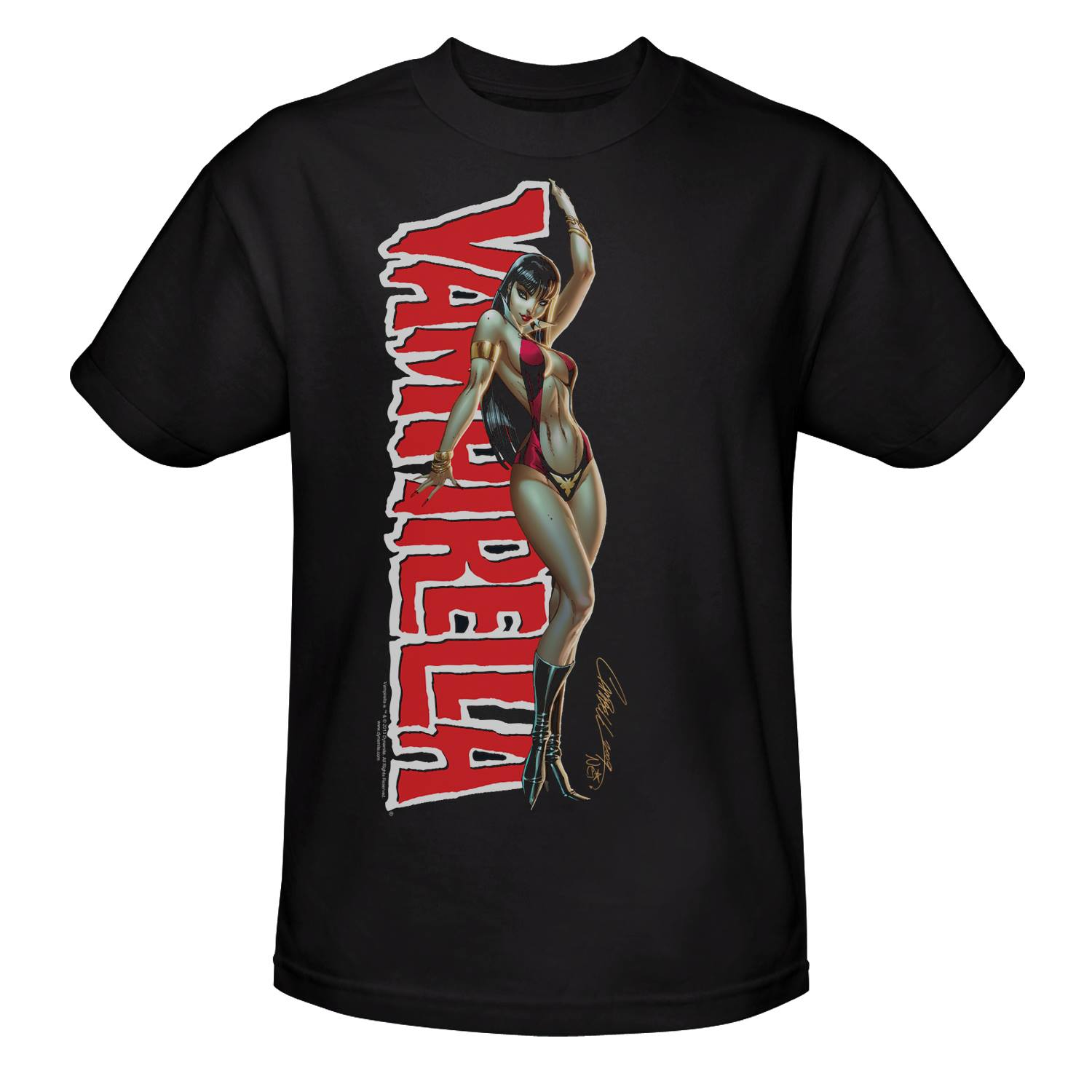Vampirella Midtown exclusive t-shirt by J. Scott Campbell