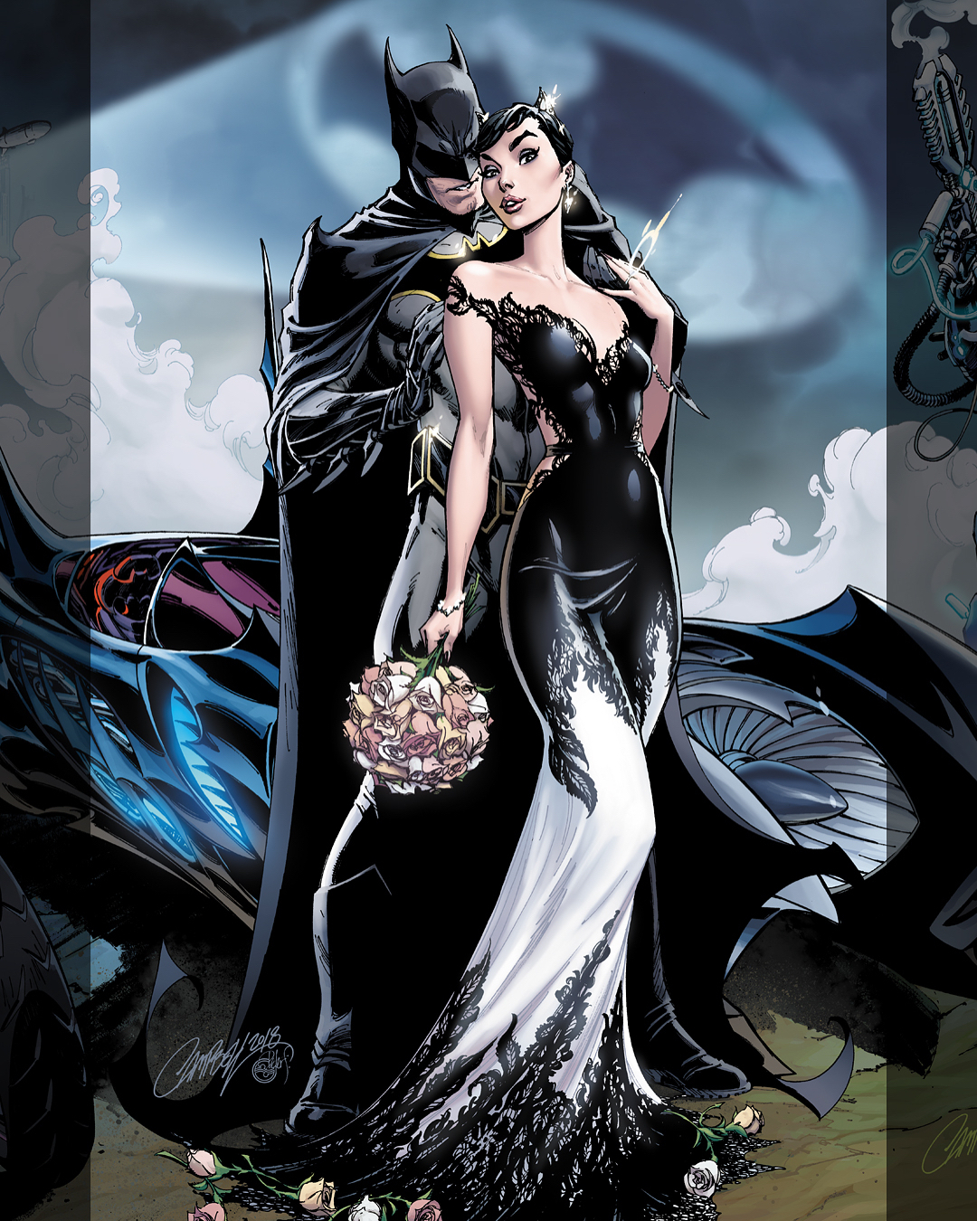 Batman 50 F Exclusive Cover Featuring Catwoman J Scott